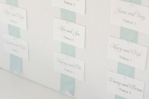 Wedding Escort Board Ideas : Not only is this board a simple elegant and budget friendly way to