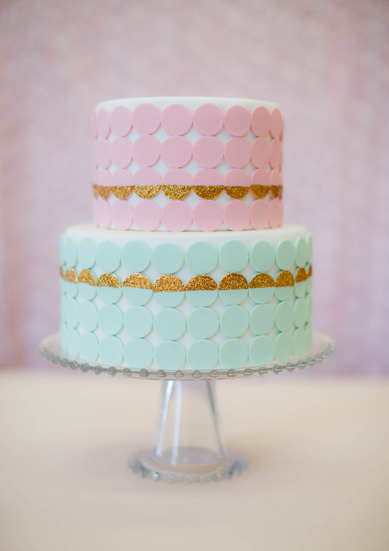 Diy glittery necco wafer cake project wedding