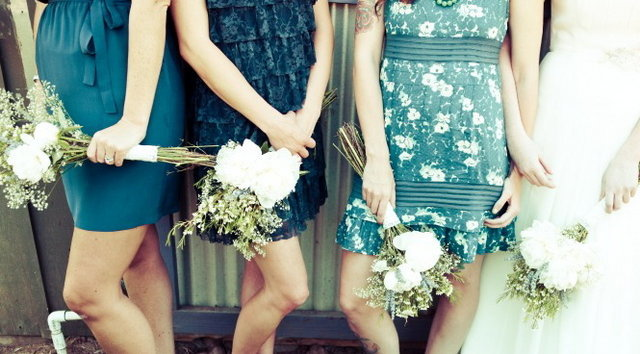 rustic blue bridesmaid dresses