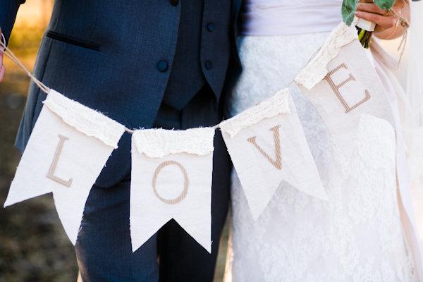burlap wedding sign