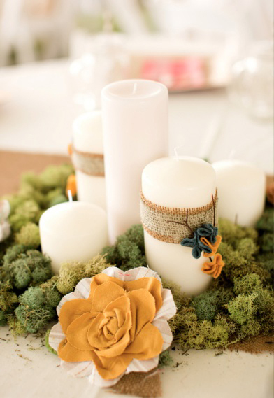 burlap candle cover