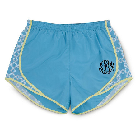 monogram running shorts