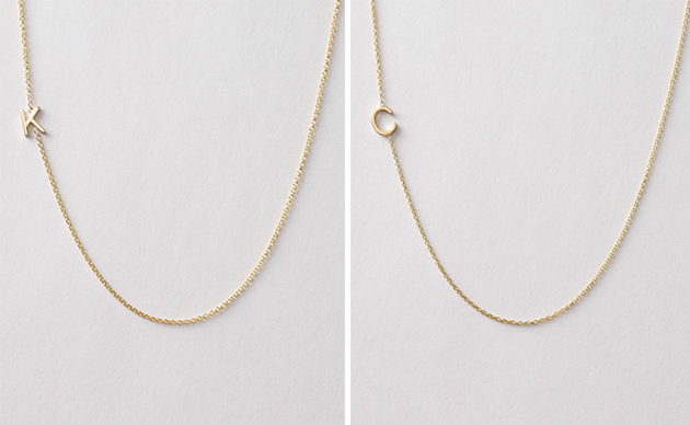 maya brenner initial necklaces